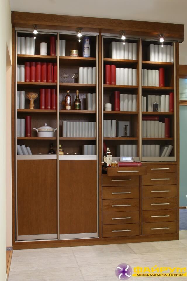 Шкаф-купе в библиотеку (арт. 2645).